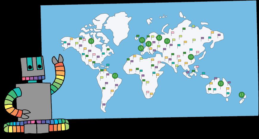 Mapa Mundial de Code Clubs
